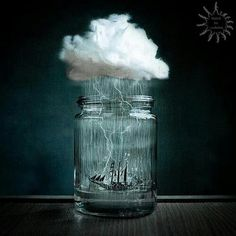 Braving the storm, in a mason jar