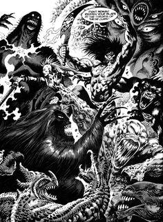 From Savage Sword of Conan, drawn by Enrique Alcatena