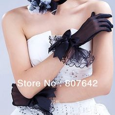 Cheap gloves thermal, Buy Quality gloves black directly from China bridal gloves ivory Suppliers: Black Bridal Glove Wedding Gloves Edge bowknot fingers Wedding Satin Lace Beads Bridal Gloves Free Shipping Sky-G0