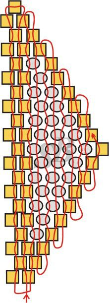 Цветок в технике мозаичного плетения   Салон Эксклюзивного Бисера beading patterns free