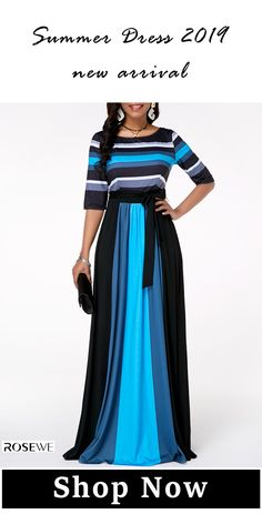 Dresses For Women Maxi Dress With Sleeves, Belted Dress, Half Sleeves, Dresses For Sale, Summer Dresses, Formal Dresses, Stripe Print, Women's Fashion Dresses, Casual Outfits