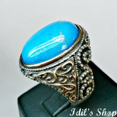 Men's Ring Turkish Ottoman Style Jewelry 925 Sterling by IdilsShop, $105.00