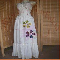 vestido bordado à mão