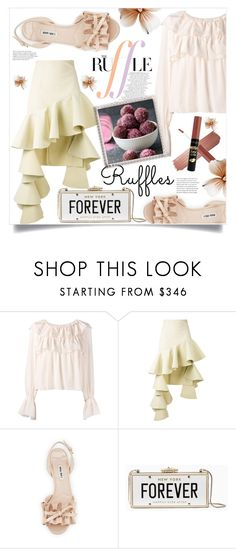 """Ruffles"" by ainzme ❤ liked on Polyvore featuring See by Chloé, Jacquemus, Miu Miu and Kate Spade"