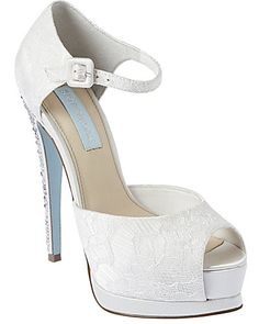 Betsey Johnson has a new bridal shoe collection :)  Love the blue soles. I want them!!!!!!