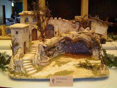 Diy Nativity, Christmas Nativity Scene, Christmas Villages, Nativity Scenes, Christmas Crib Ideas, Church Christmas Decorations, Art Deco Bedroom, Modelos 3d, Christmas Origami