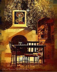 Garden Table – Featured Art Print     thewallgalleryblog