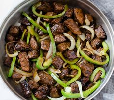 Mom's Asian Steak Peppers & Onions!