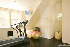 Where can we put the treadmill where it won't be in the way and will get used?