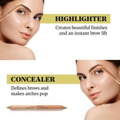 Under Eye Concealer & Highlighter Pencil - Coco's Closet Concealer For Dark Circles, Under Eye Concealer, Arched Eyebrows, Natural Eyebrows, Natural Beauty Remedies, Natural Beauty Tips, Best Eyebrow Products, Beauty Products