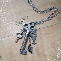 #FeyLinLin #pendant #handmade #key #Skeletonkey #Vintage #junk #подвеска #ключ #винтаж