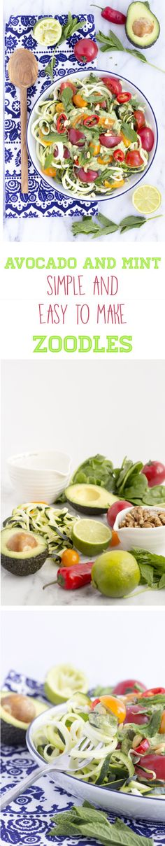 Healthy and Simple raw zoodles a great alternative to pasta