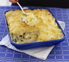 Fish pie Not sure about the texture of prawns in it (bit too chewy) but a mix of pollack, salmon and smoked haddock is delish!