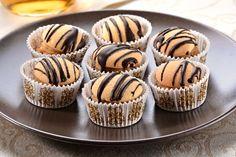 Piškotové dortíčky s nugátovo-oříškovým krémem