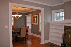 Living Room Make Over Tan White Blue Tan Paint
