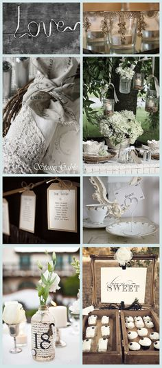 Love white table decor