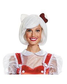 Looking for the 'purrrrrrrfect' accessory to complete your Hello Kitty costume? We have a 'feline' that this Hello Kitty Adult Wig will do the trick. Hello Kitty Halloween Costume, White Halloween Costumes, White Costumes, Halloween Wigs, Halloween Costume Accessories, Cute Halloween, Cool Costumes, Adult Costumes, Costumes For Women