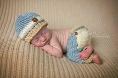 Newborn Boy Peek-a-Boo Pants Bum Flap Pants by RDPhotographyProps