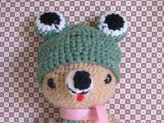 Amigurumi Bear with wool cap