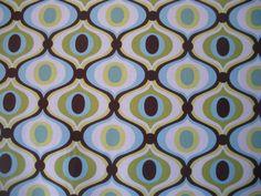 Tissu Michael Miller Feeling Groovy vert : Tissus Habillement, Déco par boutiquelatelier