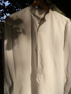 French Vintage Linen Dress Shirt by GoshnPoche on Etsy, $50.00