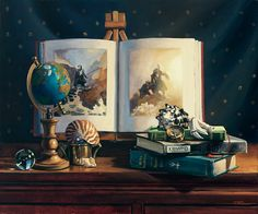 """""""Tales of the Sea"""" Oil on Canvas  By Michelle WaldeleDick Www.mwaldelestudio.com"""