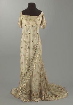 Evening dress ca. 1795-1808