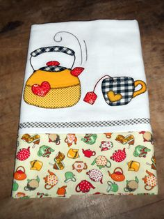 Applique Towels, Embroidered Towels, Hand Applique, Machine Embroidery Applique, Applique Quilts, Applique Designs, Embroidery Designs, Quilting Projects, Sewing Projects