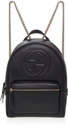 Soho Leather Chain Backpack
