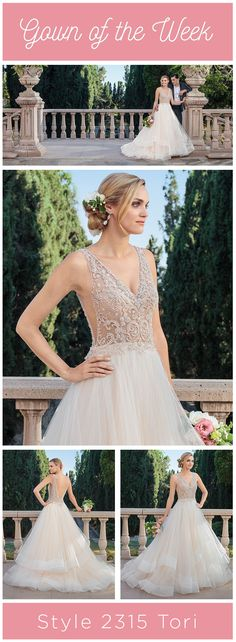 Casablanca Bridal Style Tori combines contemporary sparkle and sheer with a classic A-line silhouette fora one-of-a-kind look that is both sexy and sweet. Casablanca Bridal Gowns, Wedding Colors, Wedding Ideas, Bridal Style, Villa, Sparkle, Bride, Contemporary, Create