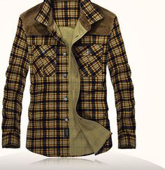 Western Style Patchwork Plaid Long Sleeve Flannel Shirt