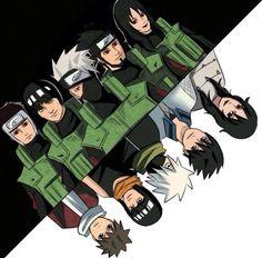 Before and after - Yamato, Gai, Kakashi, Asuma and Kurenai