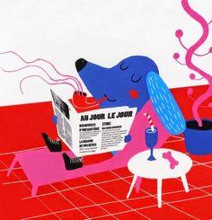 Madalena Matoso smoking dog illustration