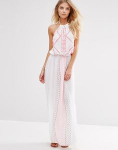 Butterfly By Matthew Williamson Strappy Embroidered Beach Dress
