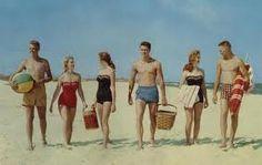 Inspiration for Retro beach themed graduation party. Beach blanket bingo, twister, bonfire and clam bake.