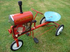 To see more pictures of this pedal car visit… Pedal Tractor, Pedal Cars, Radio Flyer Wagons, Kids Bicycle, Farm Toys, Red Wagon, Kids Ride On, Go Kart, Old Toys