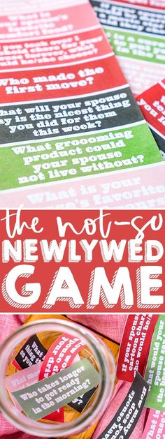 The Not So Newlywed Game is a Couples Game that tests how well you really know your partner! Enjoy as a cozy at home date night or host a fun couples' game night. Challenge your knowledge of one another and hopefully learn something new! Fun Couple Games, Question Games For Couples, Newlywed Game Questions, Games For Girls, Date Night Games, Couples Game Night, Night Couple, Anniversary Games, Anniversary Parties