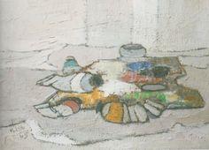 Mario Lupo, La mia tavolozza, 1965, olio su tela, 70 x 50 cm