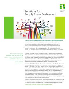 1WS Supply Chain Enablement Solution Flyer  by 1WorldSync via slideshare