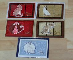A bunch of christmas cards