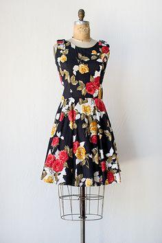vintage 1980s 50s revival dress | Fervent Bouquet Dress