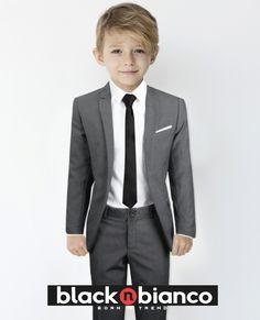 Black n Bianco Baby Boys Toddler Pinstripe Suit