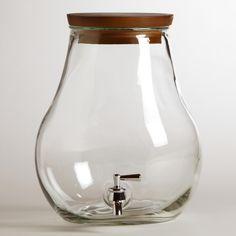 For Kombucha- 7-Liter Glass Teardrop Tank | World Market