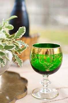 Green Glass Wine Glasses