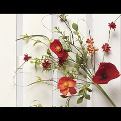 """Poppy Pick Red and Orange 18"""" by ZiaBella on Opensky.  This would make a great wedding boquet."""