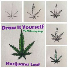 marijuana tattoos | How to Draw Cannabis, Cannabis Leaf ...