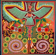 Huichol Yarn Art...So Much Work To Create This!