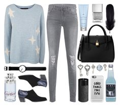 """""""#258. [good things take time]"""" by yuuurei ❤ liked on Polyvore featuring Rosendahl, Drybar, 7 For All Mankind, 360 Sweater, MICHAEL Michael Kors, Casetify, Mineheart, Nails Inc., Cartier and Pier 1 Imports"""