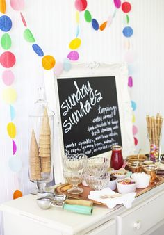 Can be a great addition to a BBQ, a make your own sundae bar! A little something for everyone.