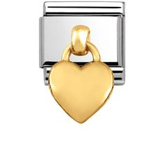 Composable Classic CHARMS in stainless steel and 18k gold | Nomination